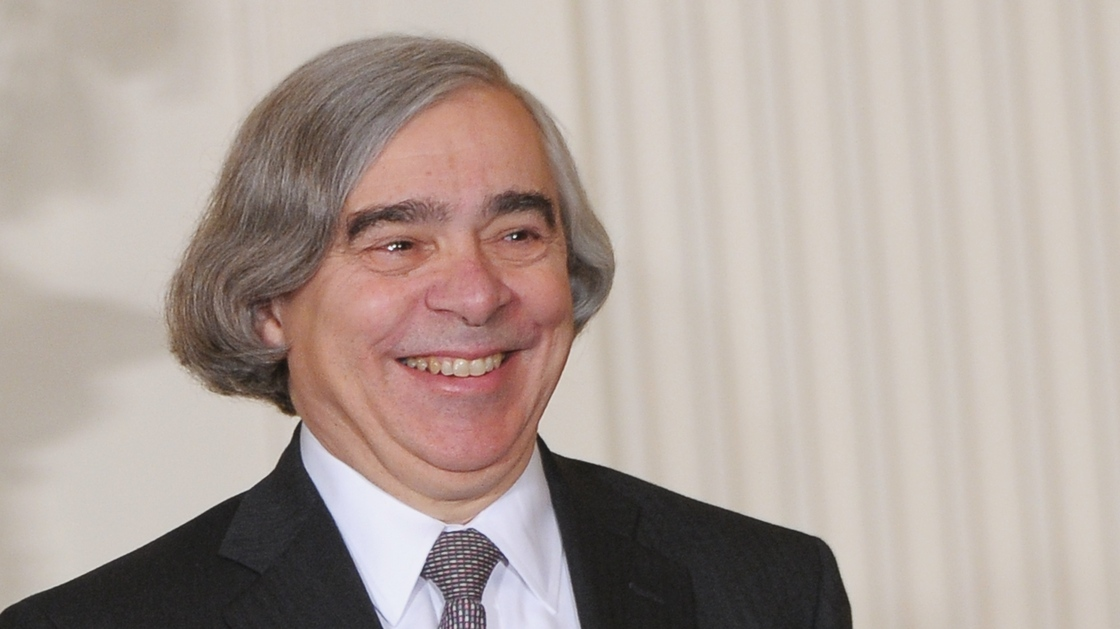 Massachusetts Institute of Technology scientist Ernest Moniz is introduced by President Obama as the nominee to run the Energy Department, Monday at the White House. Mandel Ngan/AFP/Getty Images