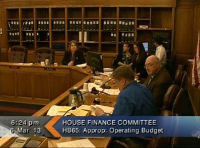 The House Finance Committer hears public testimony. (Image courtesy Gavel Alaska)
