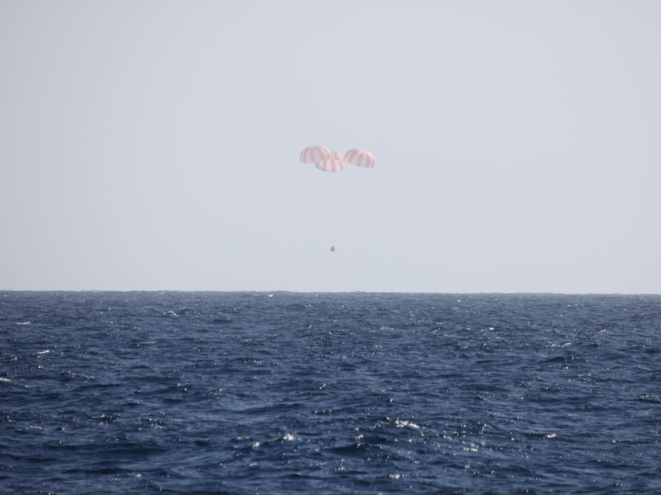 Splashdown of SpaceX Dragon on Tuesday. SpaceX