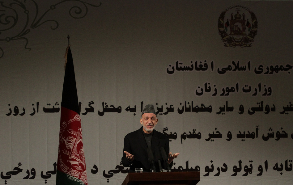 Afghan President Hamid Karzai said in a nationally televised speech on Sunday that the U.S. and the Taliban are holding talks. Ahmad Jamshid/AP