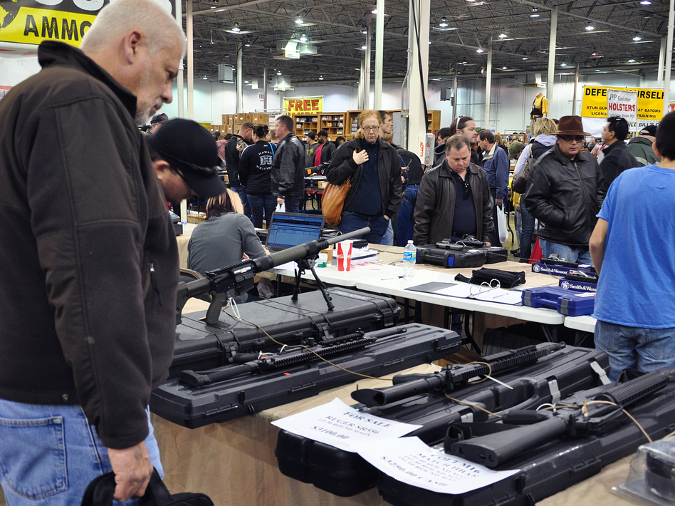 Gun show in Chantilly, Va., last December. AFP/AFP/Getty Images