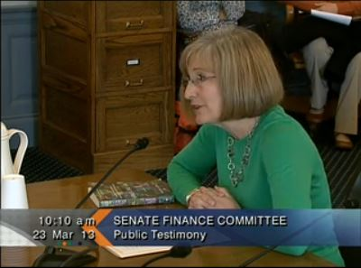 Sandy Parnell testifying