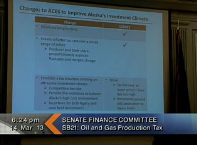 Yesterday the Senate Finance Committee tweaked provisions of the bill. (Image courtesy of Gavel Alaska)
