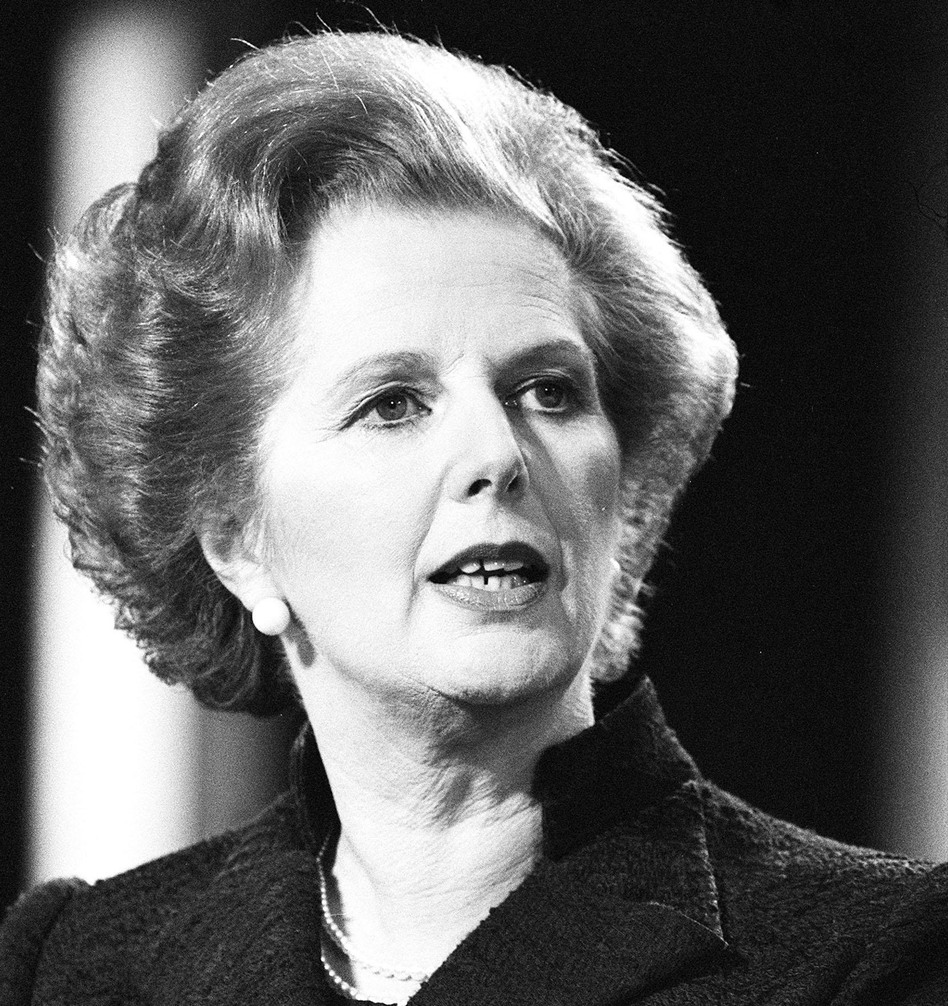 Prime Minister Margaret Thatcher in 1981. She died Monday, at the age of 87. PA Photos /Landov
