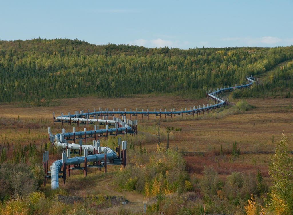 Alaska Pipeline along the Dalton Highway.