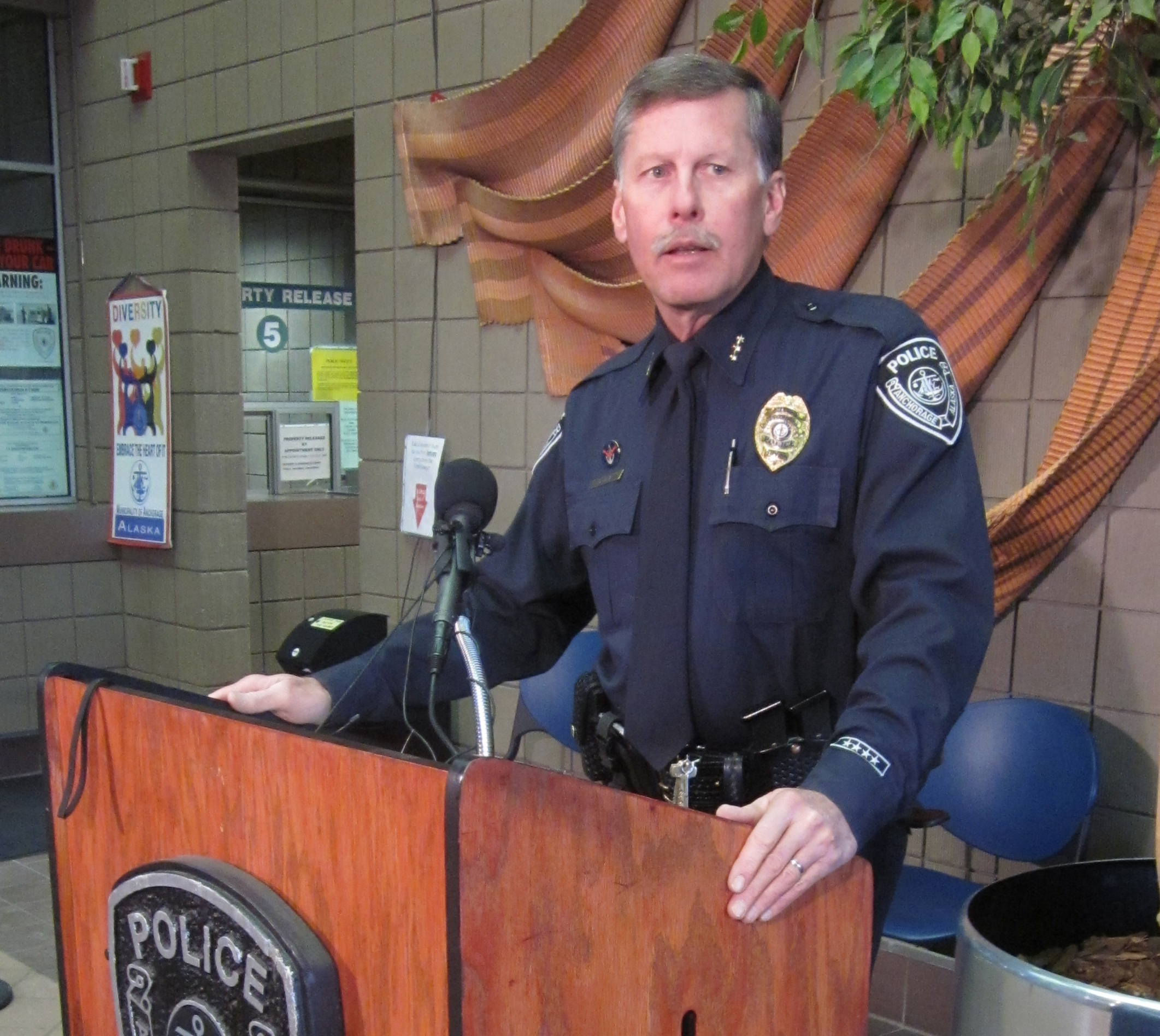 Anchorage Police Chief Mark Mew press conference April 8, 2013.