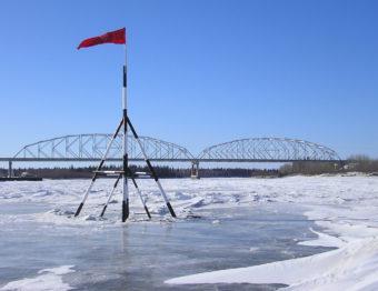The Nenana Ice Classic Tripod in 2009.