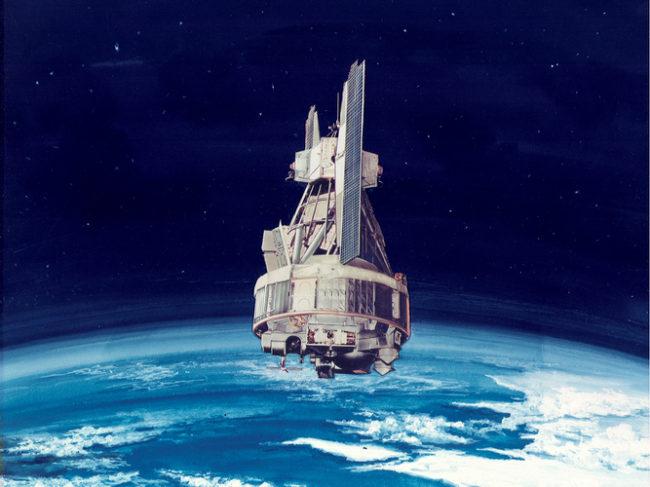 An artist's rendering of the Nimbus 1. NASA