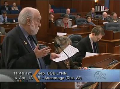 Representative Bob Lynn speaks during the House Floor session