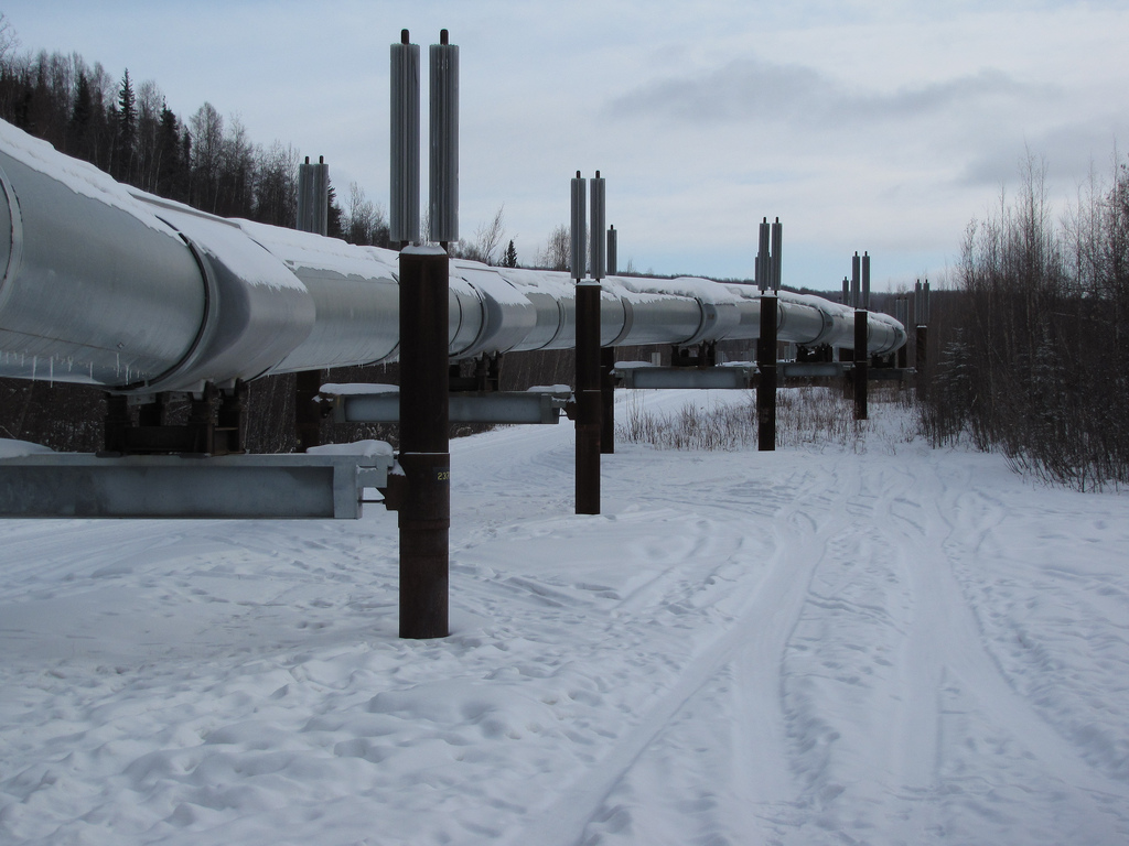 The oil pipeline. (Photo by Brian Cantoni/Flickr Creative Commons)