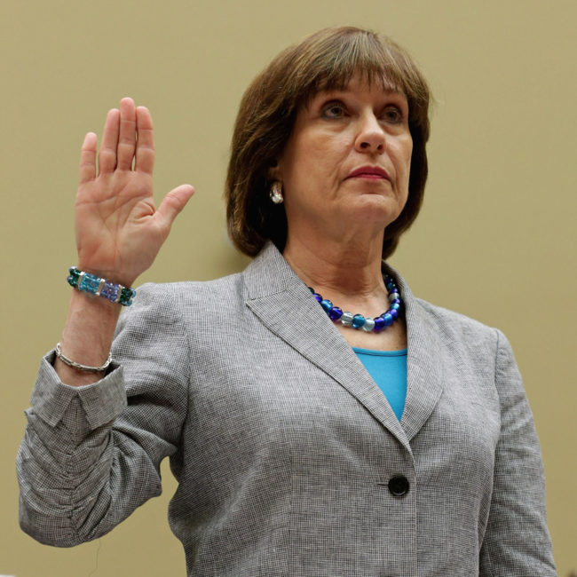 Internal Revenue Service Director of Exempt Organizations Lois Lerner as she was sworn in at a hearing held Wednesday by the House Committee On Oversight & Government Reform. Chip Somodevilla/Getty Images