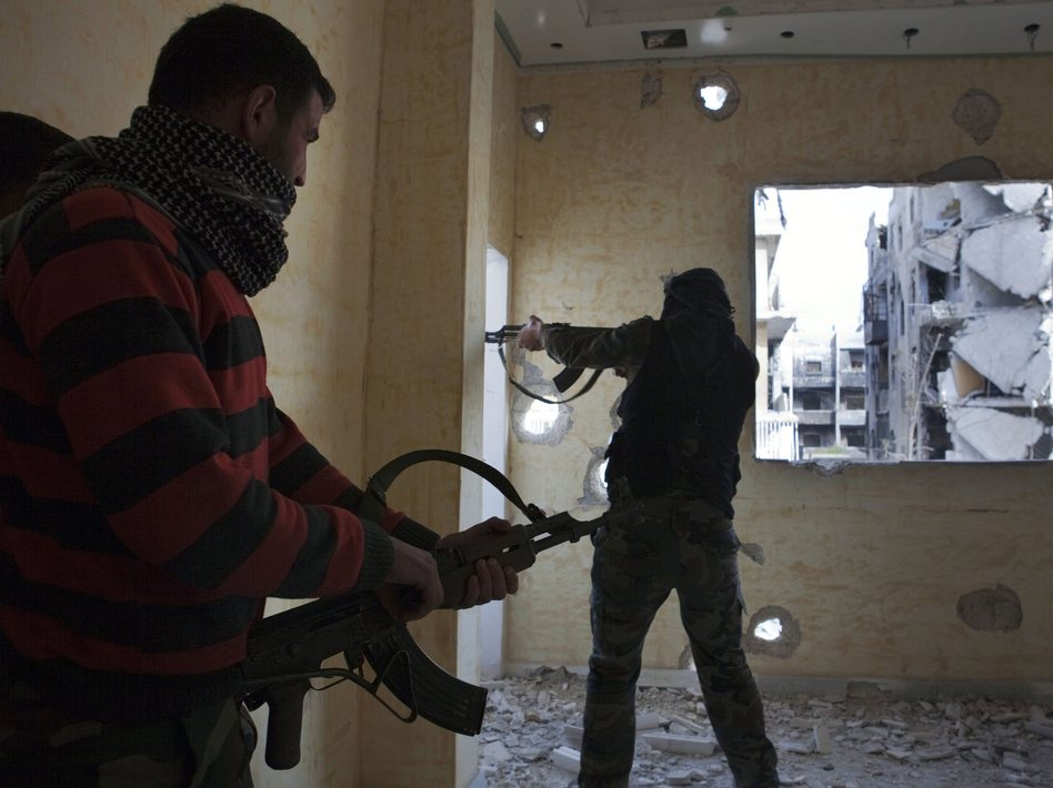 Opposition fighters from the Free Syrian Army last month in Aleppo, Syria. Maysun/EPA /LANDOV