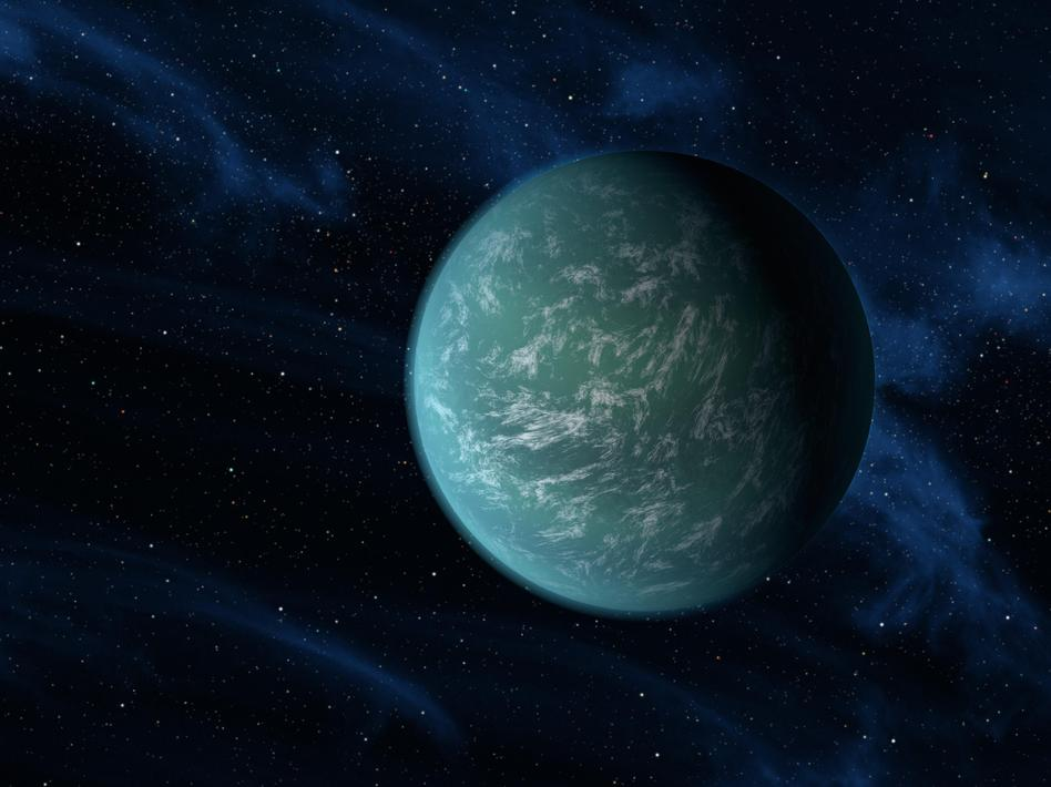 Kepler-22b, the discovery of which was announced in December 2011, is one of many planets that bear the space telescope's name. Getty Images