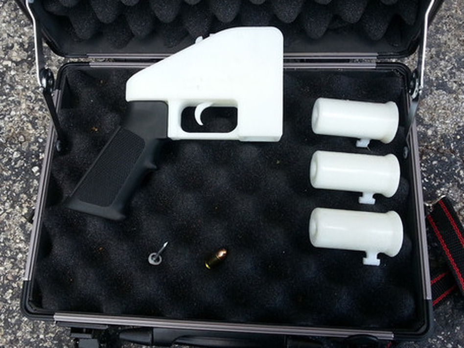 The Liberator — a plastic handgun made with a 3-D printer.