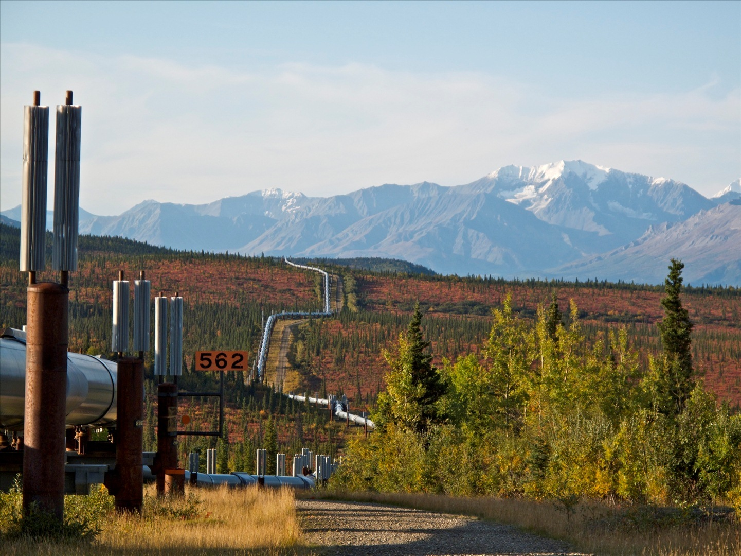 The Trans-Alaska Pipeline System (TAPS) includes the trans-Alaska crude-oil pipeline, 12 pump stations, several hundred miles of feeder pipelines, and the Valdez Marine Terminal.