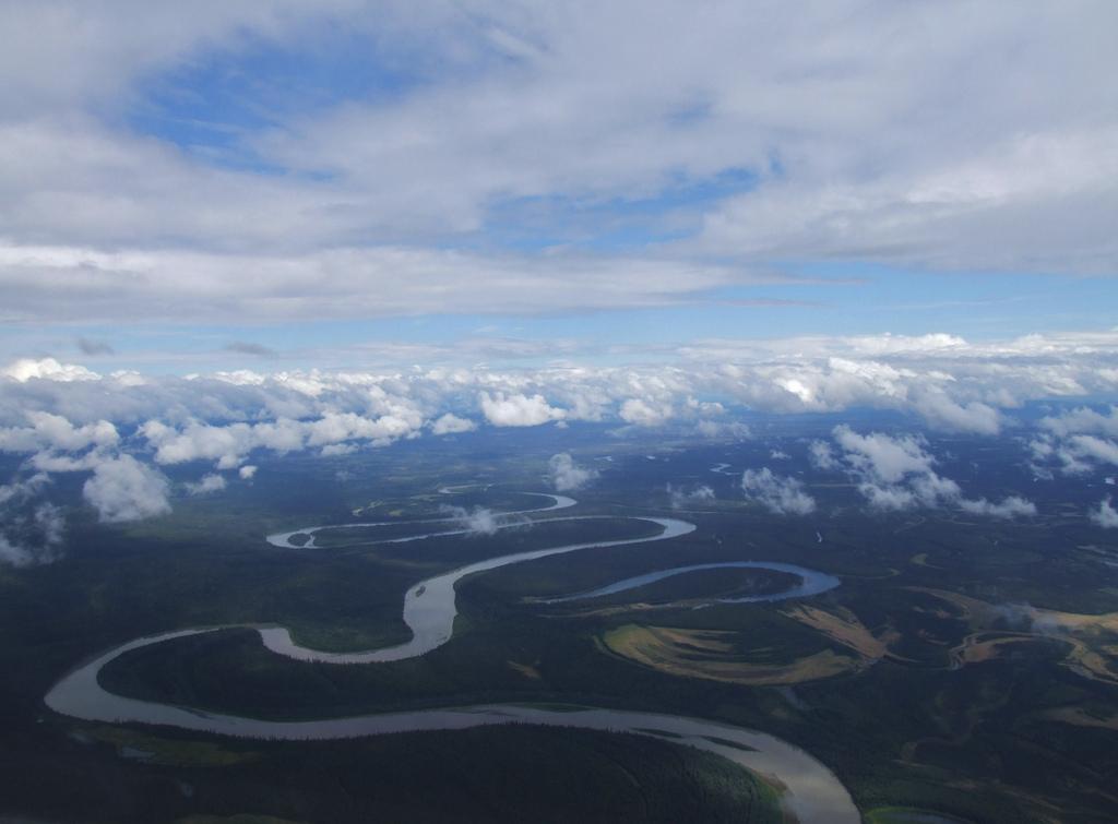 Aerial photo of the Kuskokwim River.