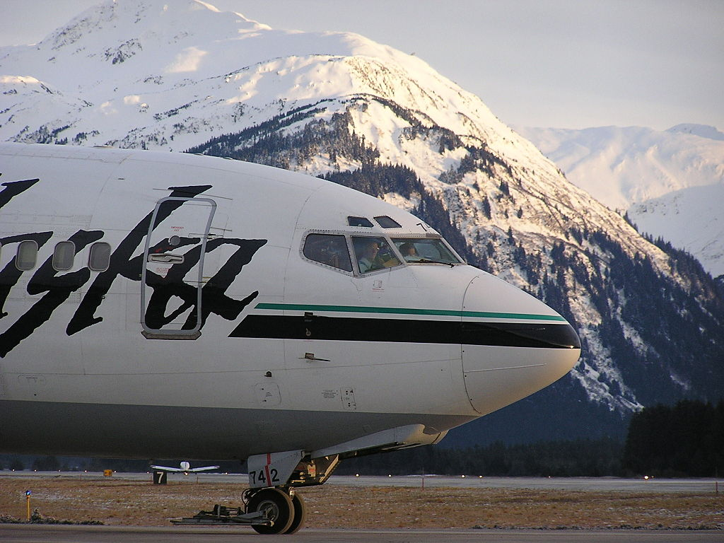 Alaska Airlines flight.