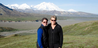 Aimee Olejasz and Fabienne Peter-Contesse at Denali Park in 2011.