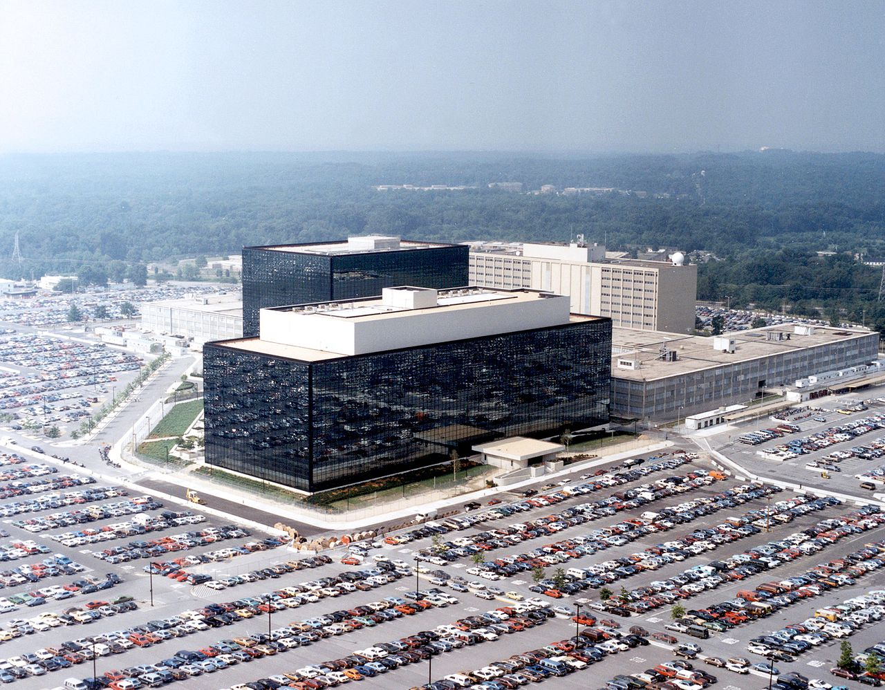 Headquarters of the NSA at Fort Meade, Maryland.