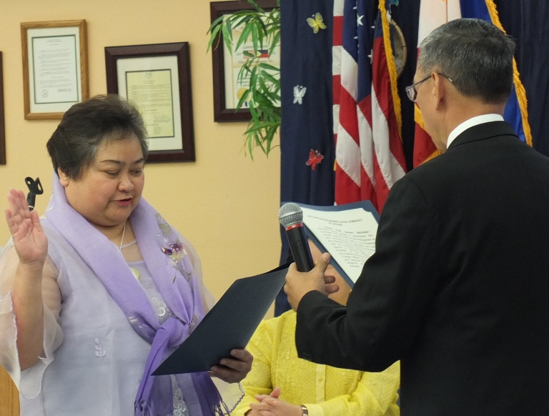 Jenny Strickler is the first Honorary Consul of the Philippines to Alaska.  She was sworn in by Marciano Paynor, Consul General of San Francisco.