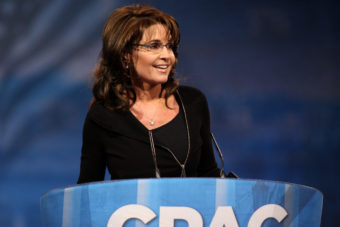 Former Governor Sarah Palin of Alaska speaking at the 2013 Conservative Political Action Conference (CPAC) in National Harbor, Maryland.