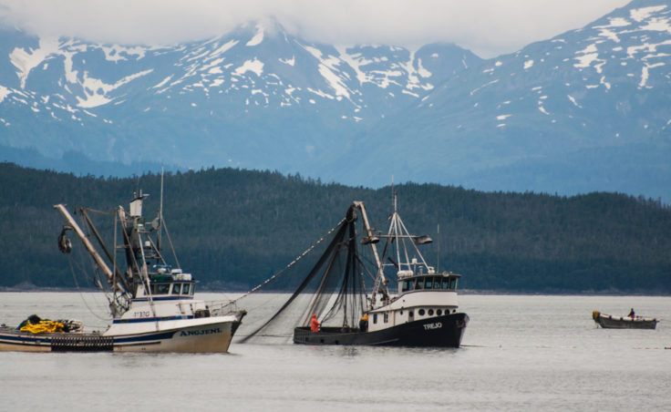 The F/V Trejo pulls in its nets.