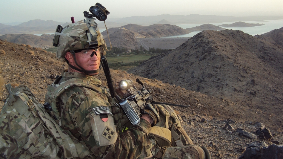 U.S. Army Staff Sergeant Ty Michael Carter near Dahla Dam, Afghanistan in July 2012. Ho/AFP/Getty Images
