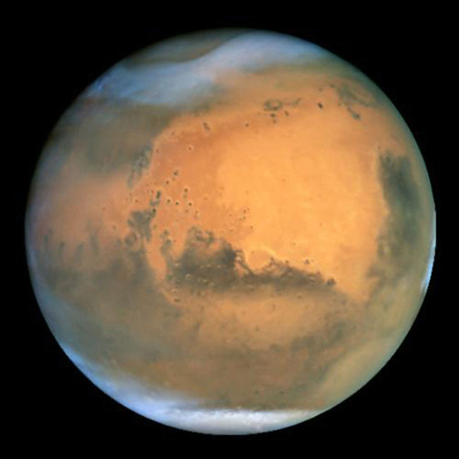"Mars: Our ""home"" planet? NASA/Getty Images"