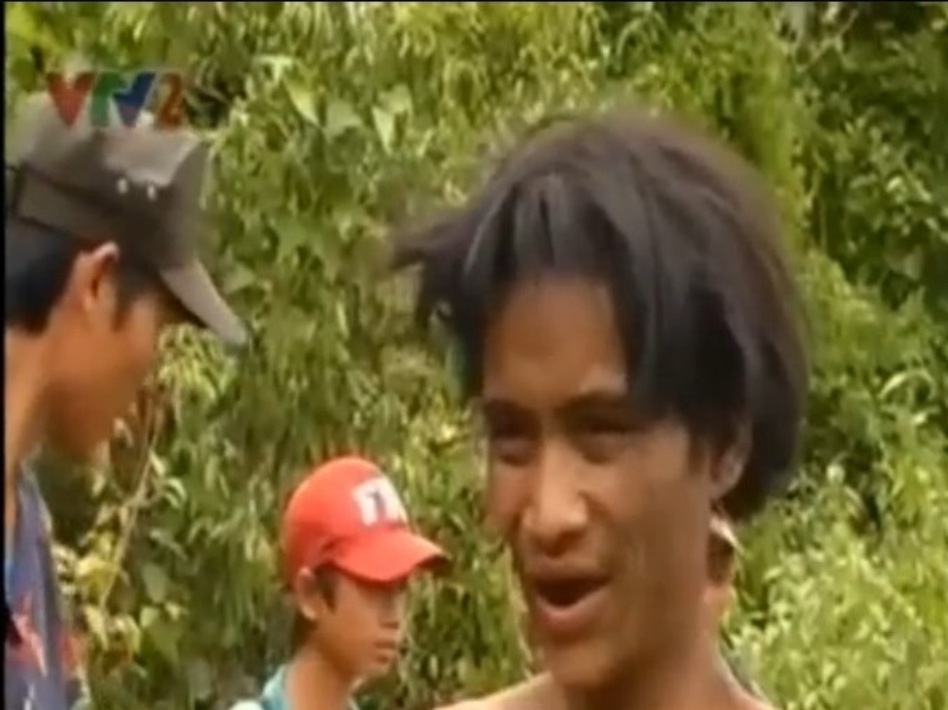 Ho Van Lang, found in the jungle of central Vietnam 40 years after he and his father fled the war. VTV2