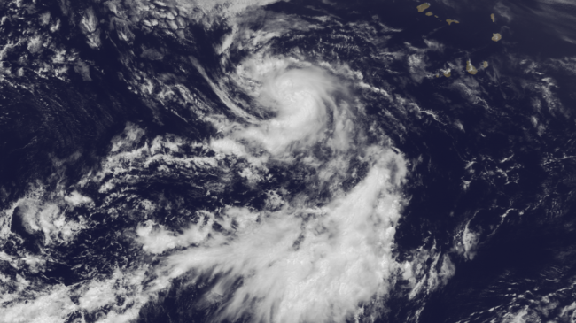 Image of Tropical Storm Dorian on July 24 from NOAA's GOES East satellite. NOAA