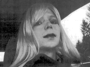 Army Pfc. Bradley Manning, who now asks to be referred to as Chelsea, dressed as a woman in this 2010 photograph. U.S. Army handout/Reuters/Landov