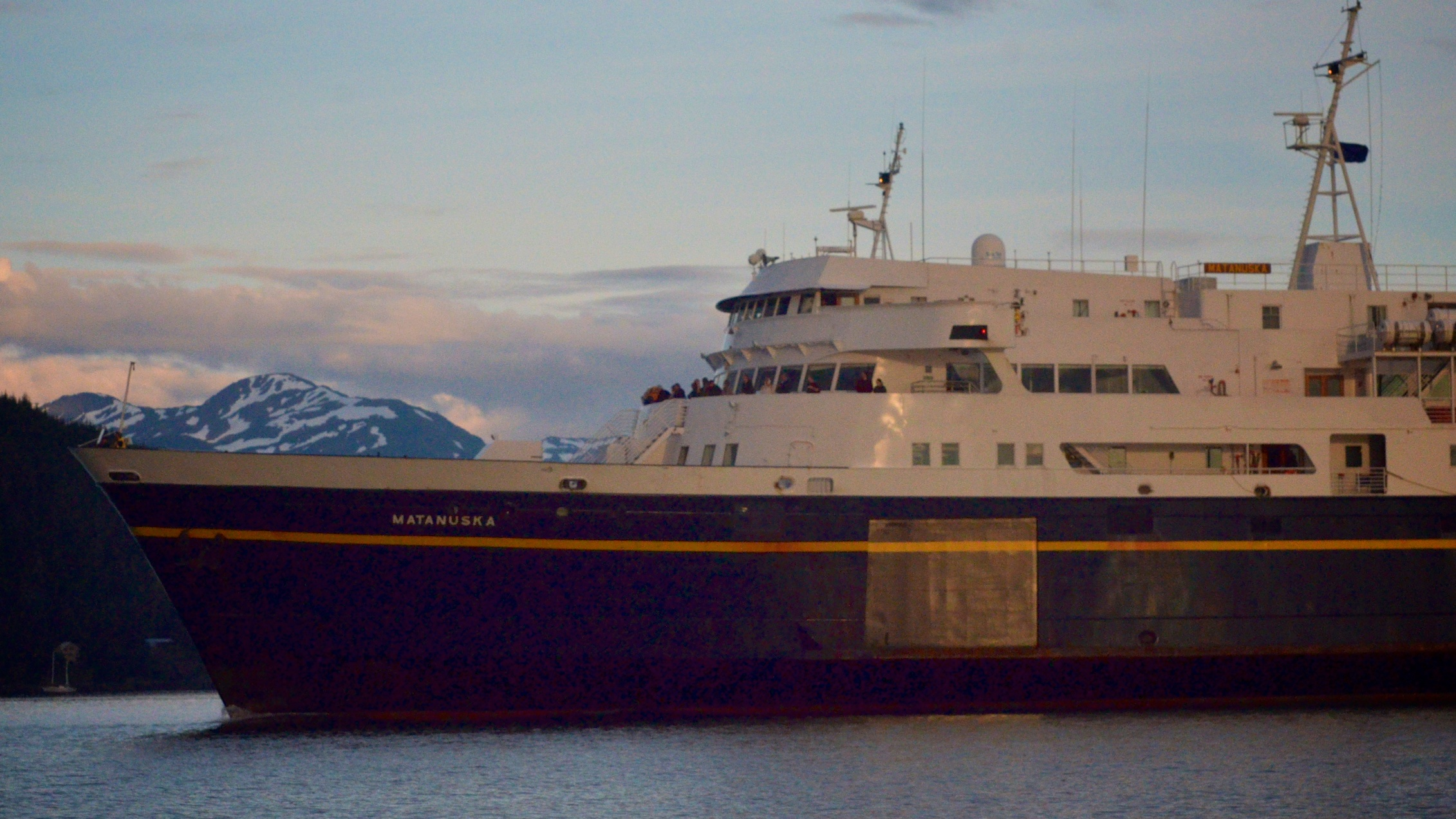 Matanuska ferry coming into Auke Bay