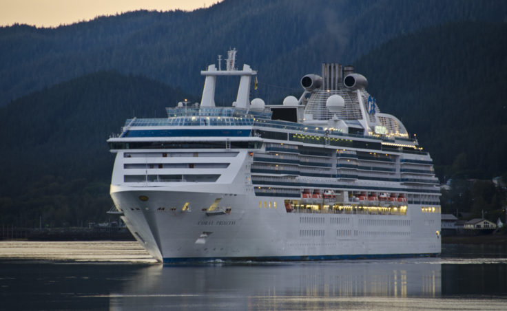 A princess cruise ship in Juneau. (Photo by Heather Bryant/KTOO)