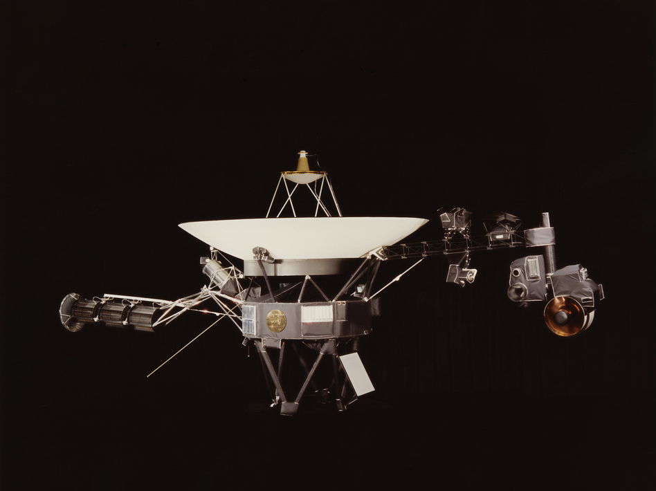 A NASA image of one of the Voyager space probes, launched in 1977 to study the outer solar system and eventually interstellar space. NASA/Getty Images