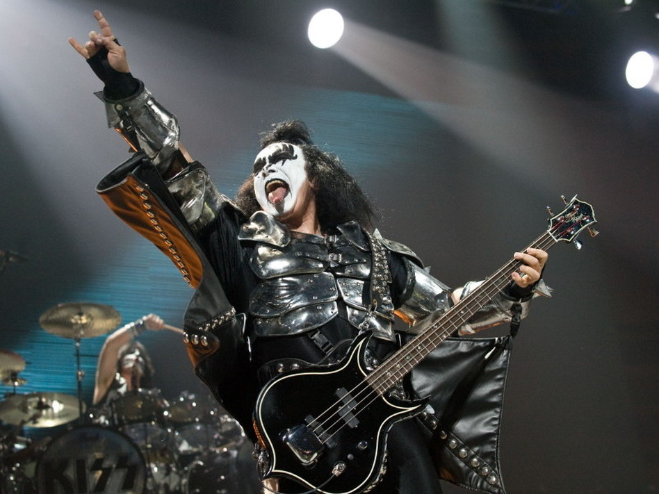 Gene Simmons of KISS during a 2009 concert in Washington, D.C.  Nicholas Kamm/AFP/Getty Images