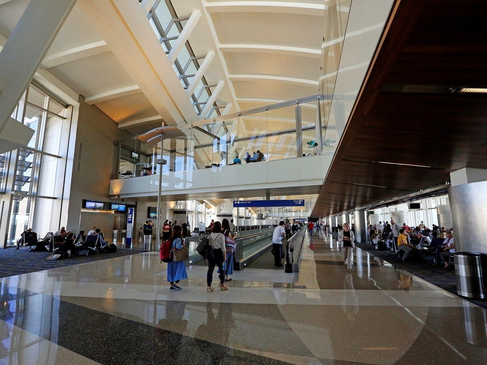 A photograph taken last month of the south concourse of L.A. International Airport's Tom Bradley International Terminal. Reed Saxon/AP