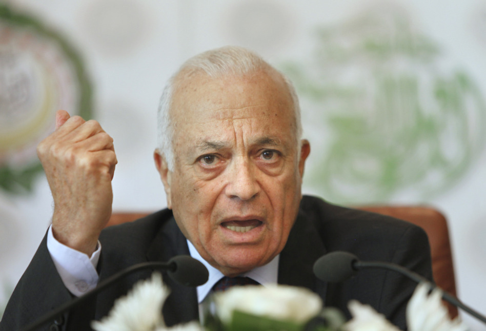 Arab League Secretary General Nabill el-Araby says negotiations to broker a political solution to Syria's bloody civil war will begin in November. Amr Nabil/AP
