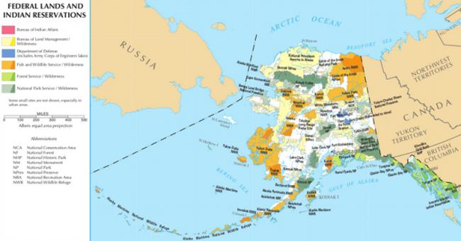 Alaska lands map