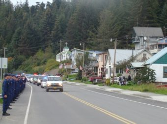 Hoonah slain officer funeral procession
