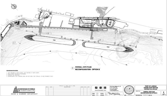 Juneau cruise ship dock project drawing