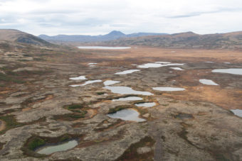 The proposed Pebble Mine site looking northwest. (Photo by Jason Sear)