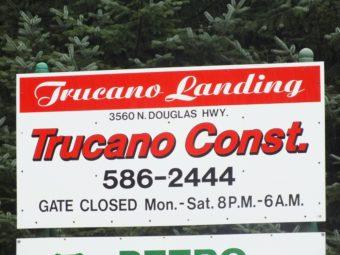 Trucano Landing sign