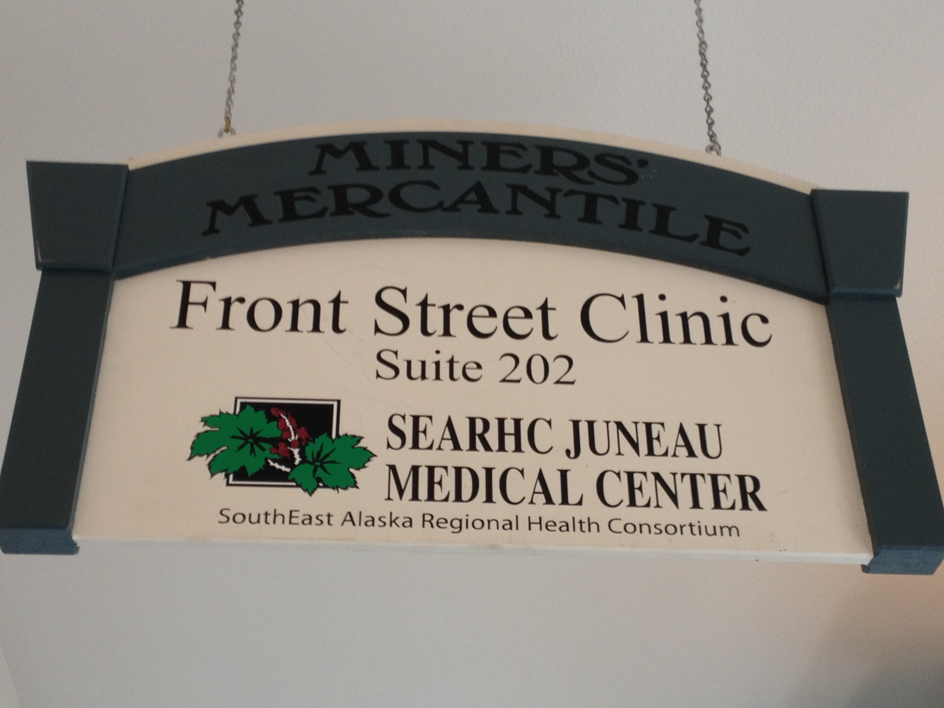 As of May 1, SEARHC will not longer be operating Front Street Clinic. (Photo by Lisa Phu/KTOO)