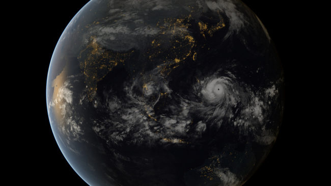 From space, Typhoon Haiyan was almost beautiful. On the ground, it wasn't so pretty. EUMETSAT