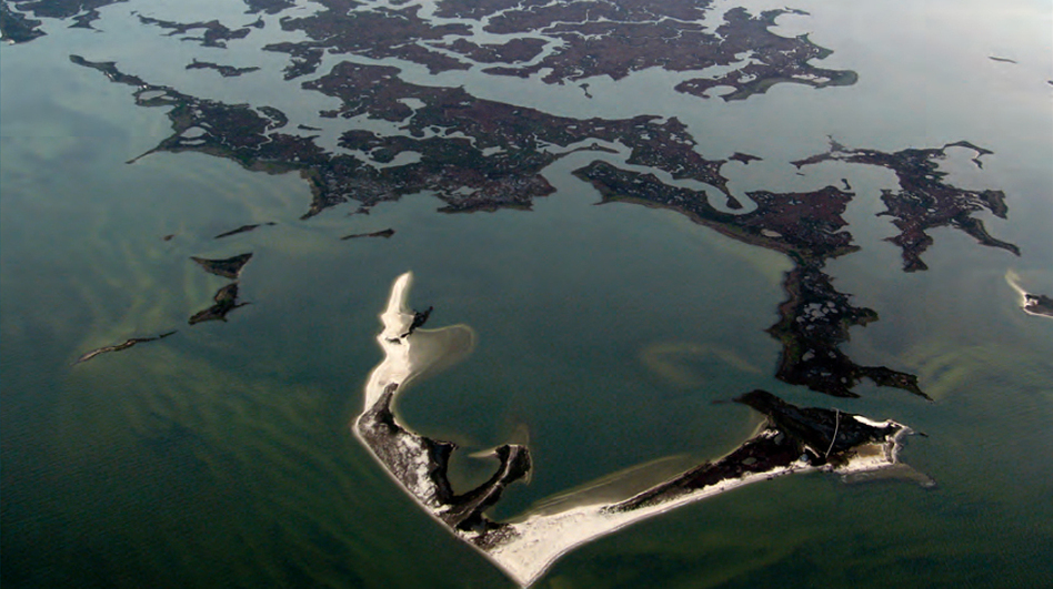 Saltwater wetlands that include marshes and shoals on Virginia's Atlantic coast. U.S. coastal wetlands losses were 25 percent greater from 2004-2009, according to a recent federal study. U.S. Fish and Wildlife Service