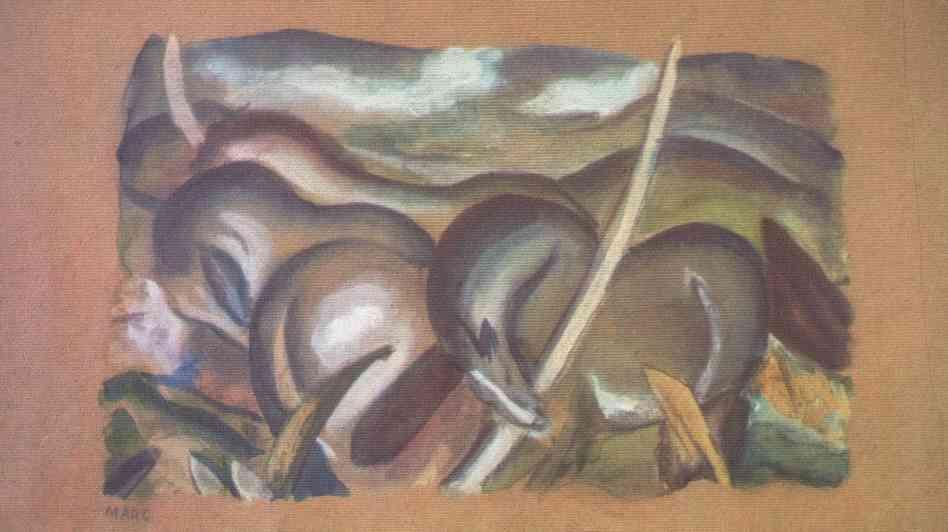 A painting by Franz Marc, Horses in Landscape. Marc Mueller/EPA/Landov