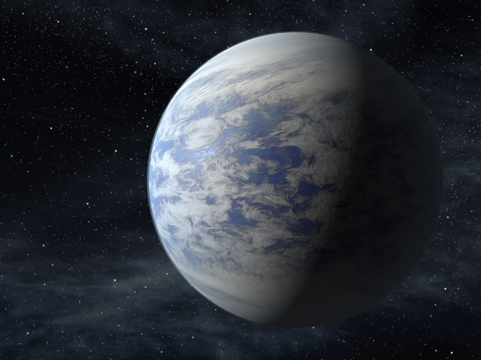 An artist's rendition of Kepler-69c, a super-Earth-size planet in the habitable zone of a star like our sun, located about 2,700 light-years from Earth in the constellation Cygnus. AP