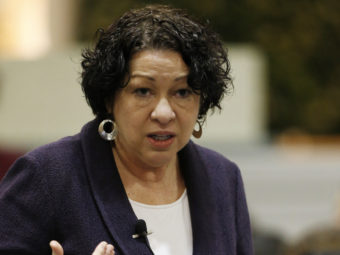 Supreme Court Justice Sonia Sotomayor answers a question at Chicago Public Library in Chicago, in January. Nam Y. Huh/AP
