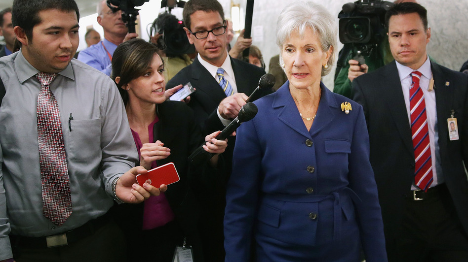 Health and Human Services Secretary Kathleen Sebelius issued a report Wednesday revealing that 106,185 Americans selected a health plan in the new marketplace from Oct. 1 to Nov. 2. Chip Somodevilla/Getty Images