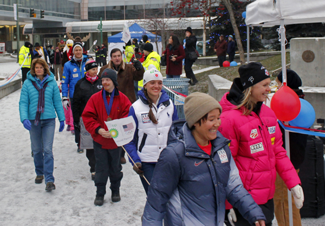 Alaska Olympic athletes say goodbye